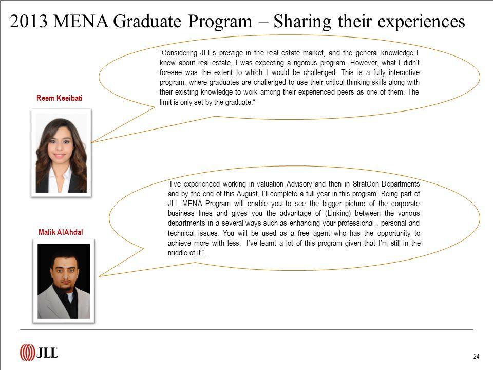 2014 MENA Graduates – Sharing their experiences