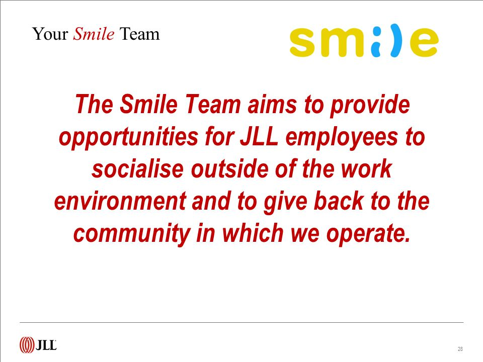 S.M.I.L.E. Social Committee of JLL-MENA