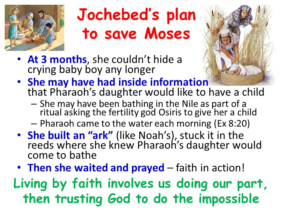 Jochebed's plan to save Moses