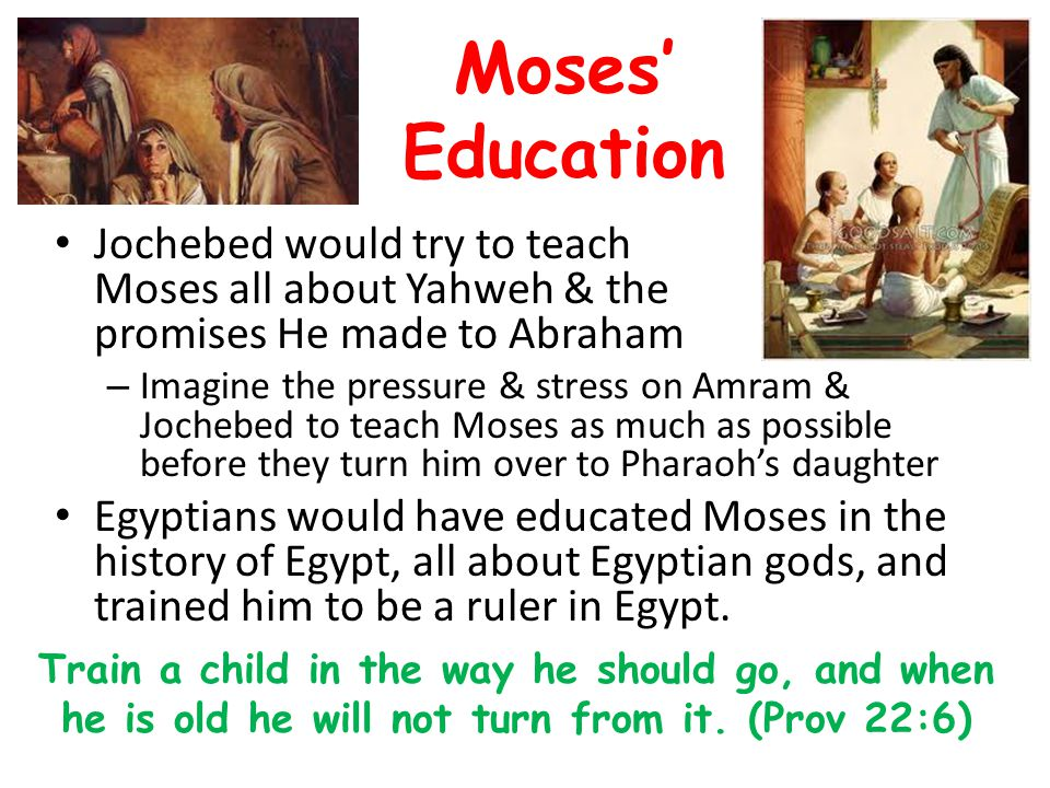 Moses' Education