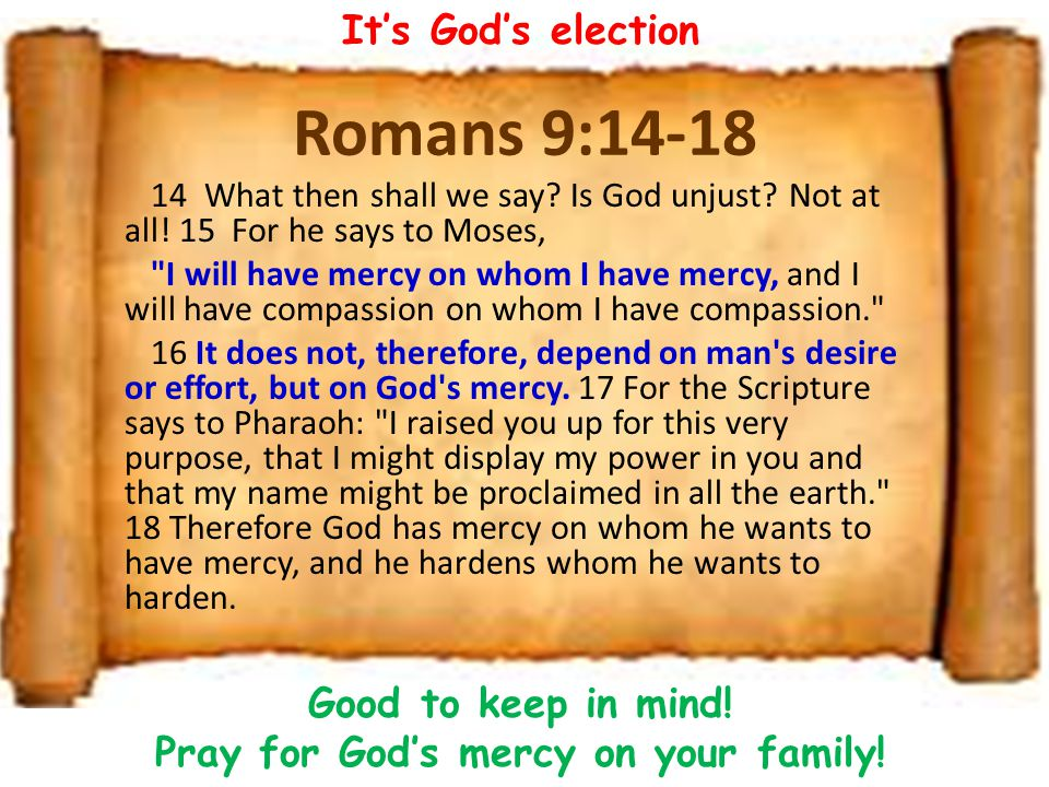 Good to keep in mind! Pray for God's mercy on your family!