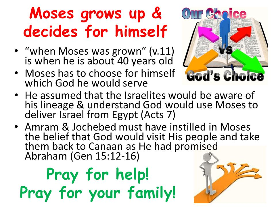 Moses grows up & decides for himself