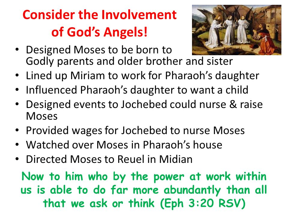Consider the Involvement of God's Angels!
