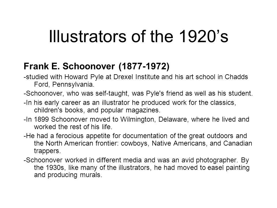 Illustrators of the 1920's Frank E. Schoonover (1877-1972)