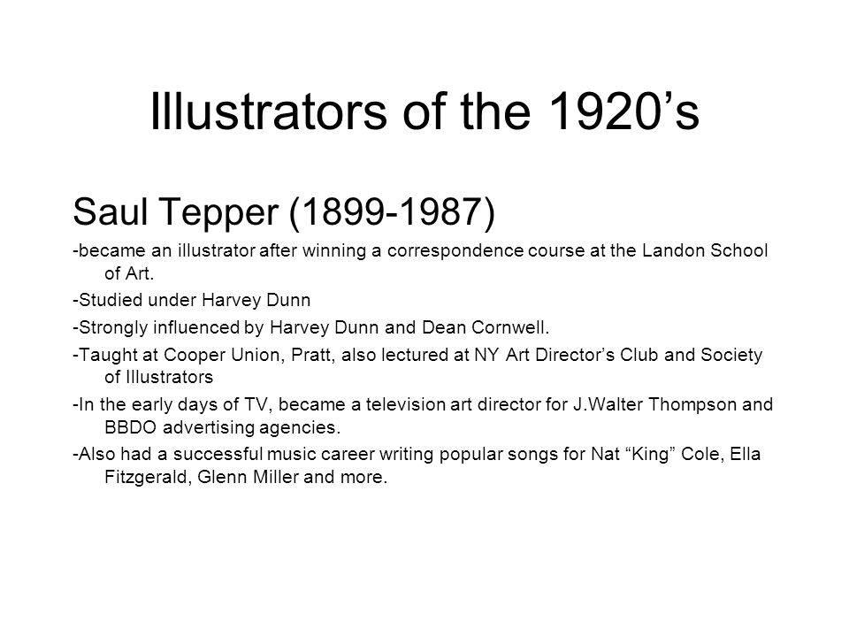 Illustrators of the 1920's Saul Tepper (1899-1987)