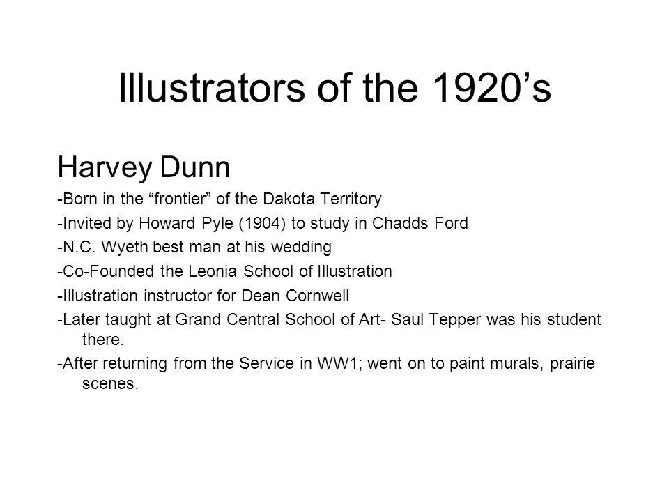 Illustrators of the 1920's Harvey Dunn