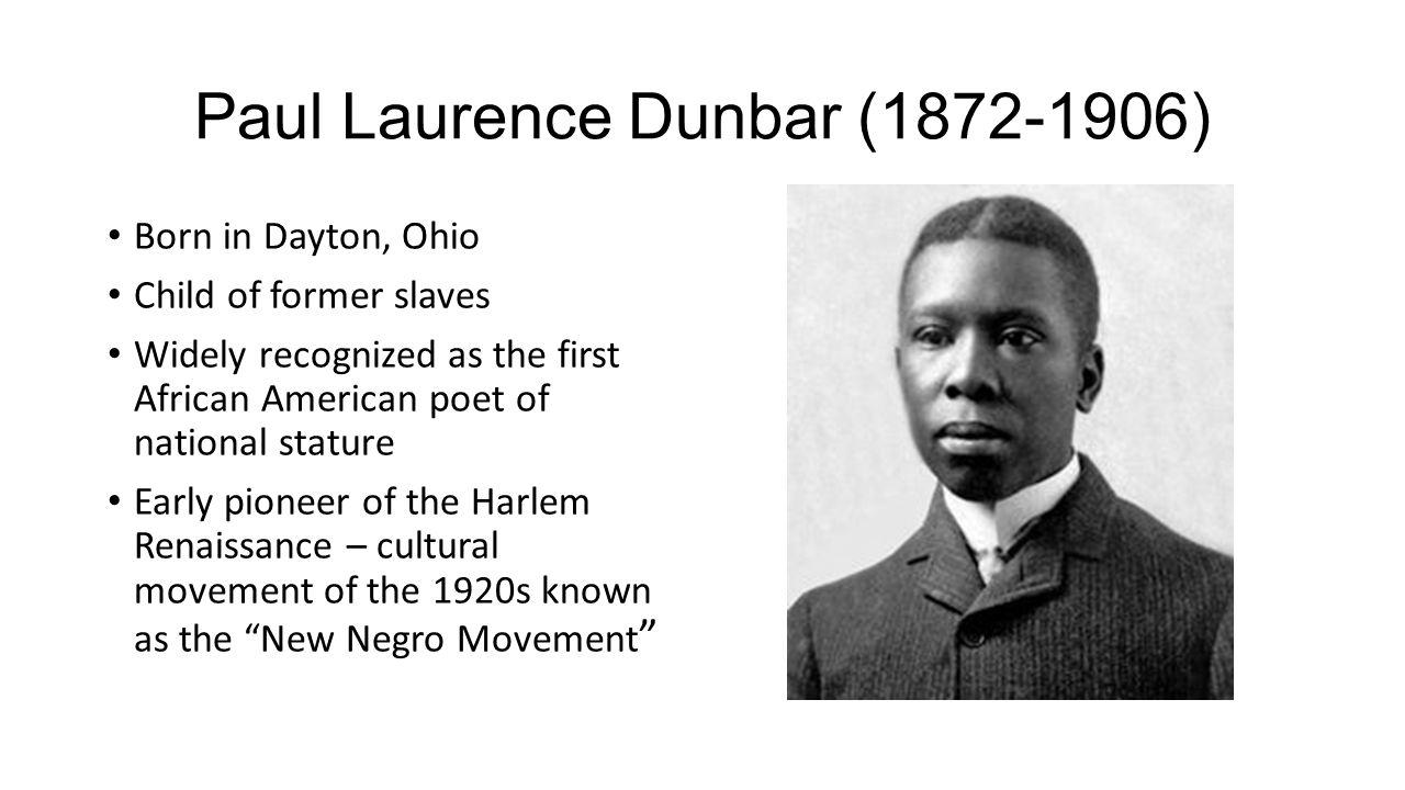 Paul Laurence Dunbar (1872-1906)
