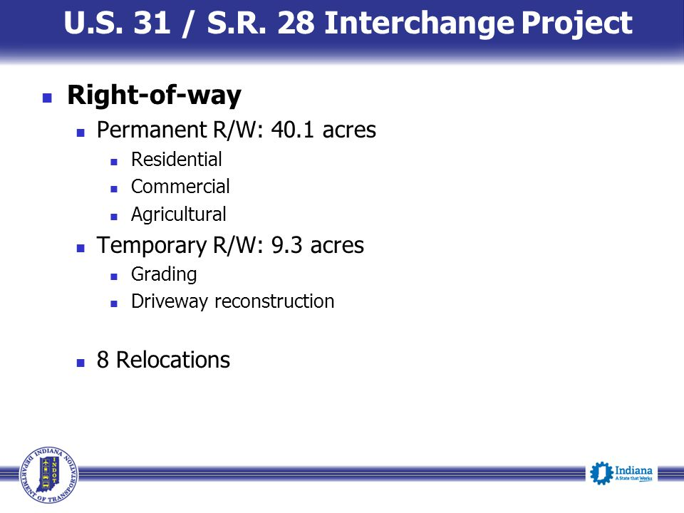 U.S. 31 / S.R. 28 Interchange Project