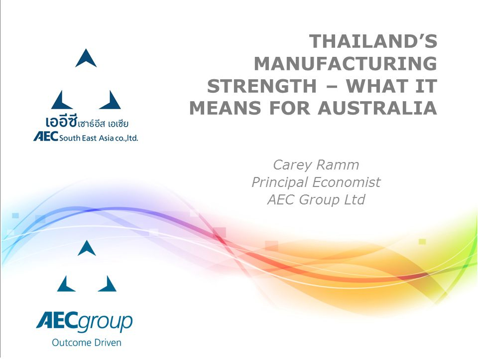 Thailand's Manufacturing strength – what it means for australia