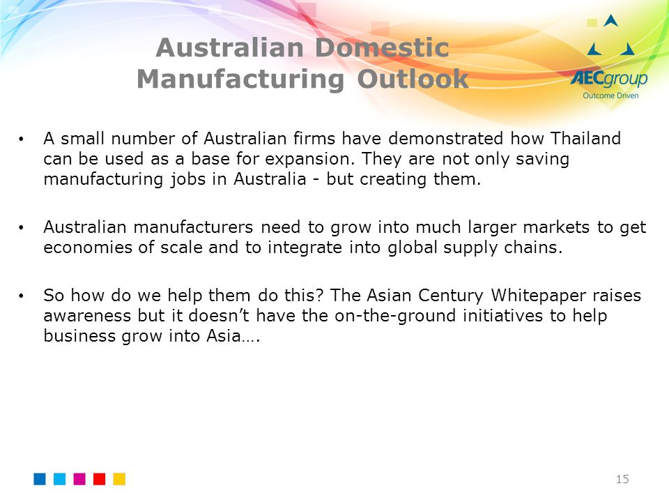 Australian Domestic Manufacturing Outlook