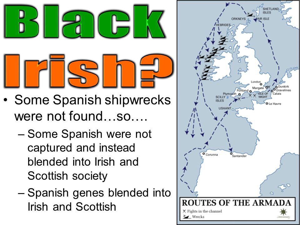 Black Irish Some Spanish shipwrecks were not found…so….