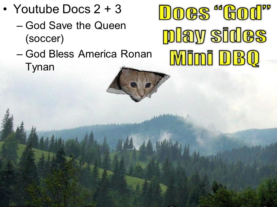 Does God play sides Mini DBQ Youtube Docs 2 + 3