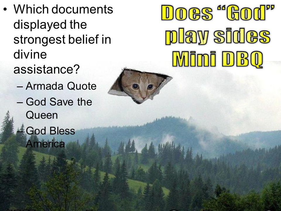 Does God play sides Mini DBQ