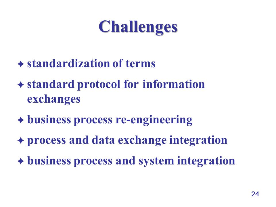 Challenges standardization of terms