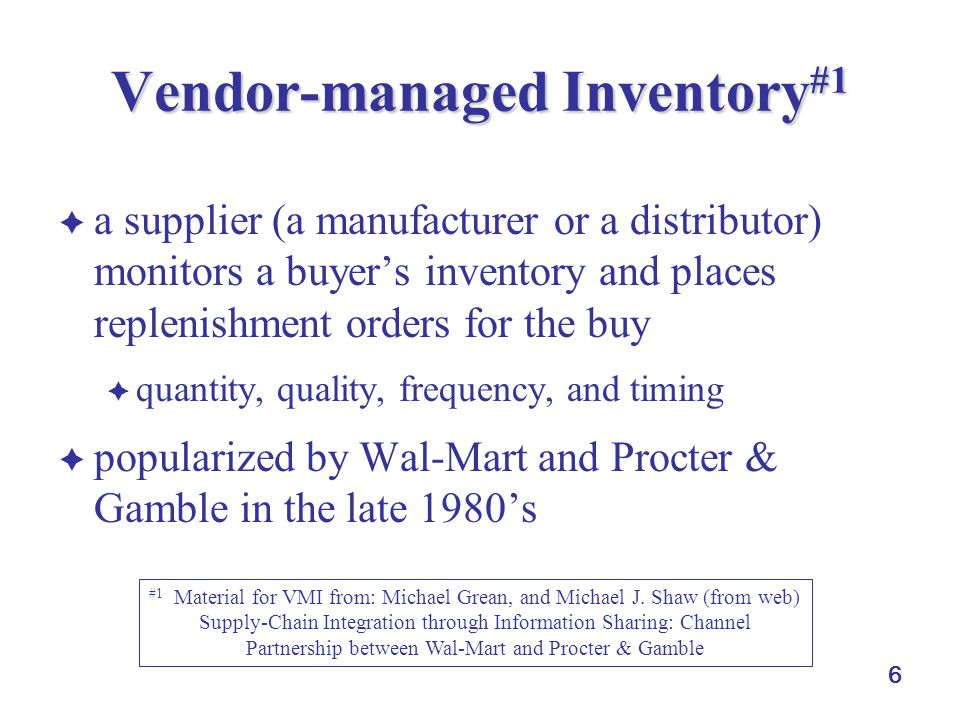 Vendor-managed Inventory#1