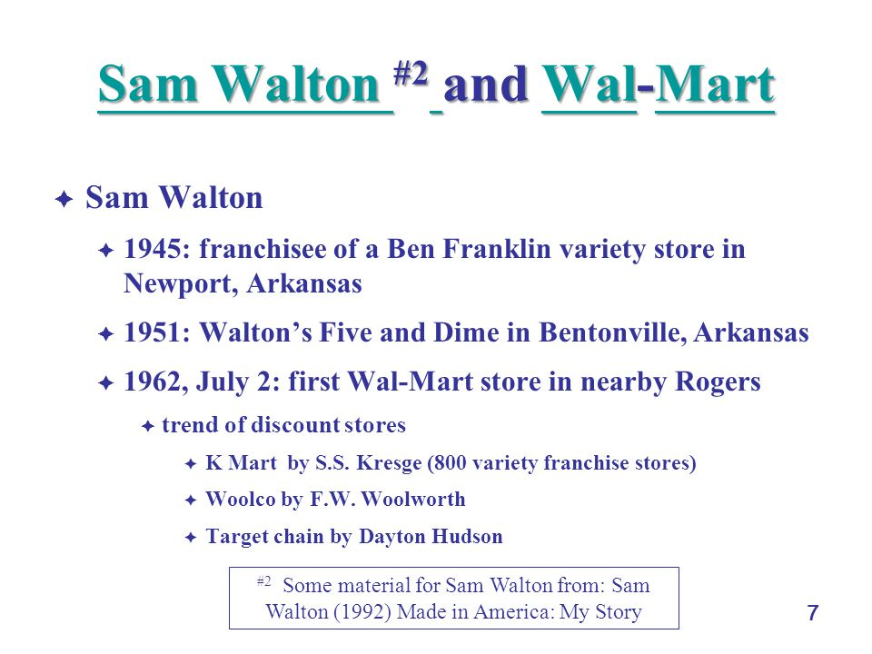 Sam Walton #2 and Wal-Mart
