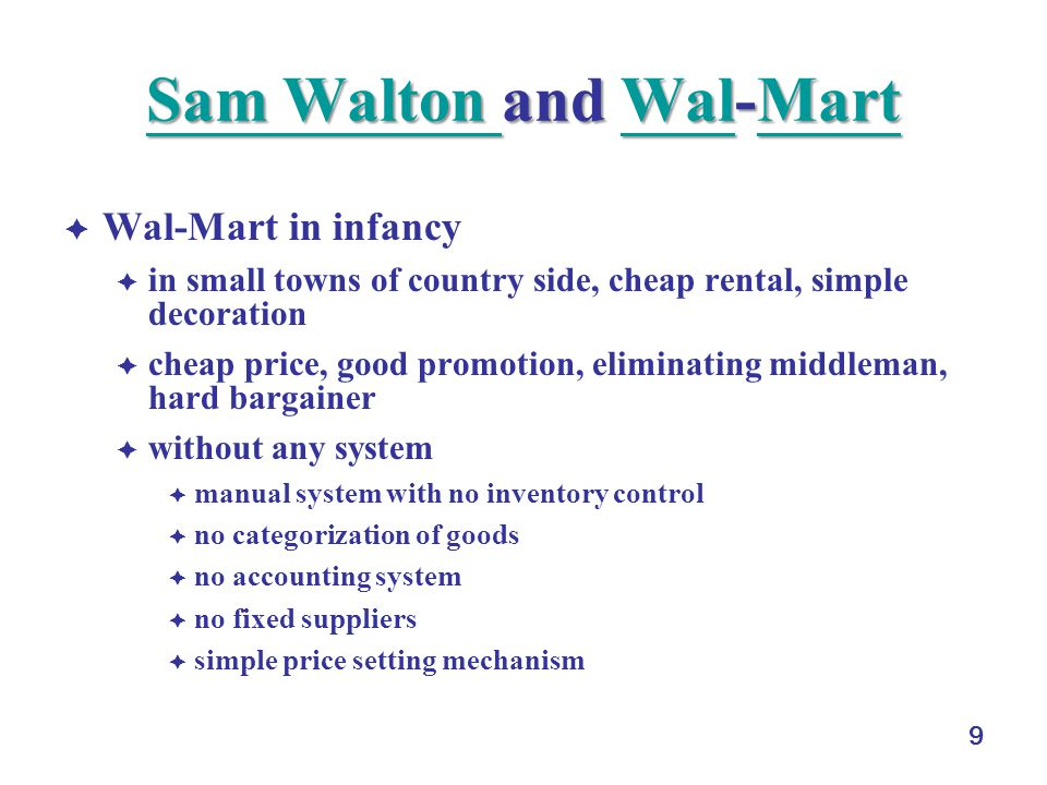 control mechanisms of wal mart Walmart company analysis assignment help another control mechanism used in wal-mart is audit committee.