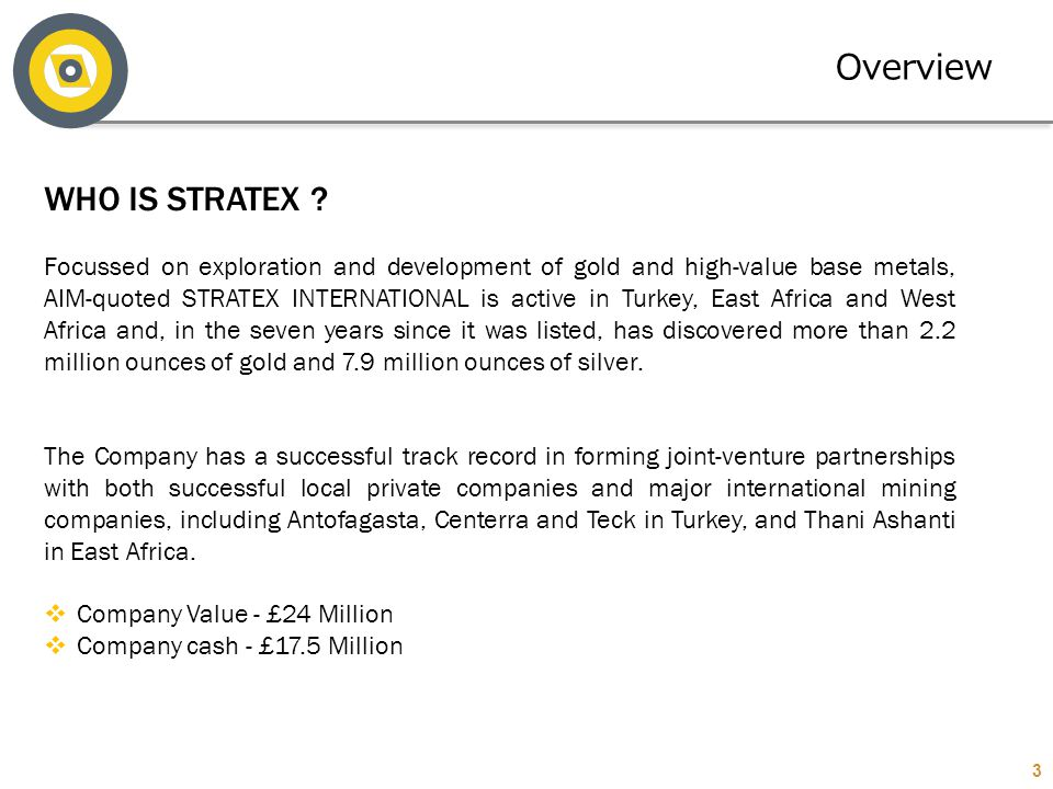 Overview WHO IS STRATEX