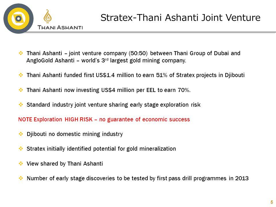 Stratex-Thani Ashanti Joint Venture