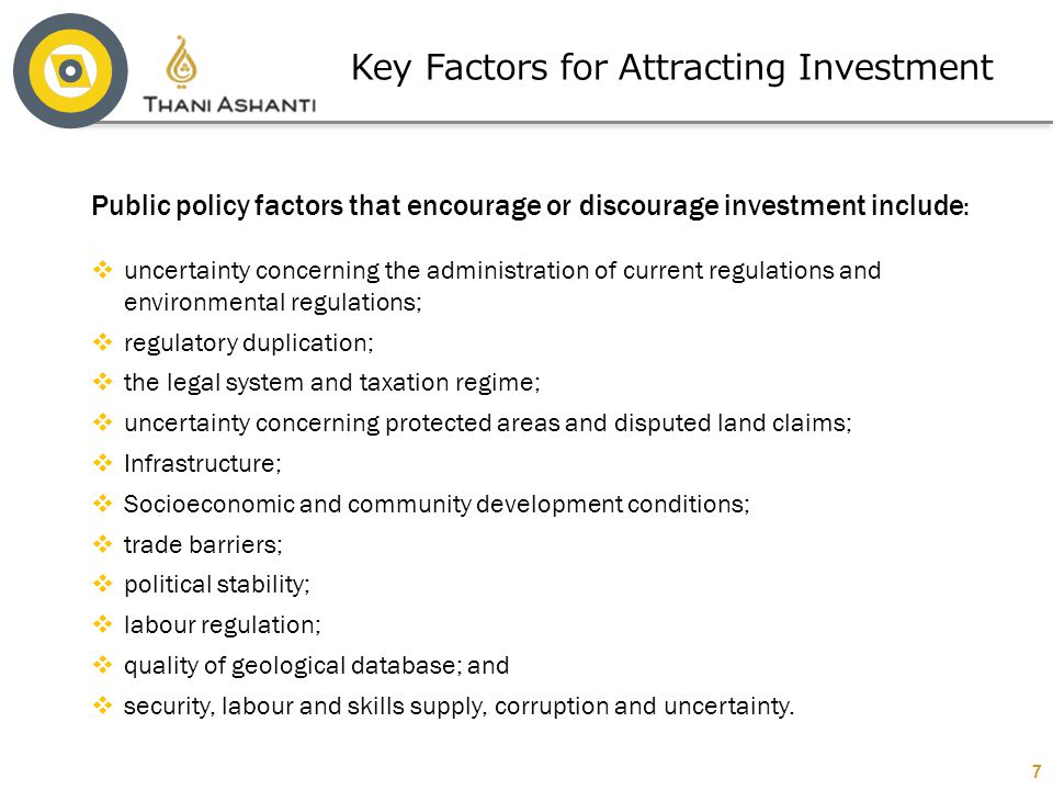 Key Factors for Attracting Investment