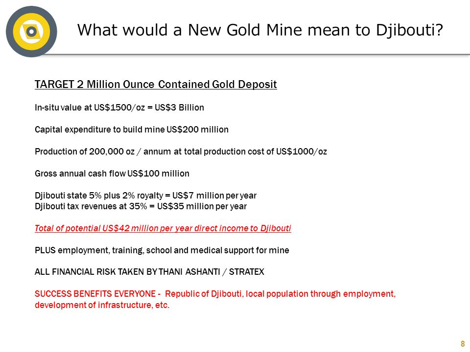 What would a New Gold Mine mean to Djibouti