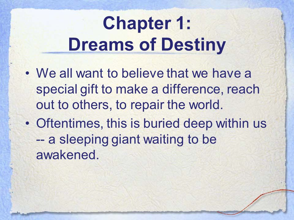 Chapter 1: Dreams of Destiny