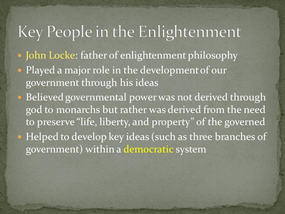 Key People in the Enlightenment