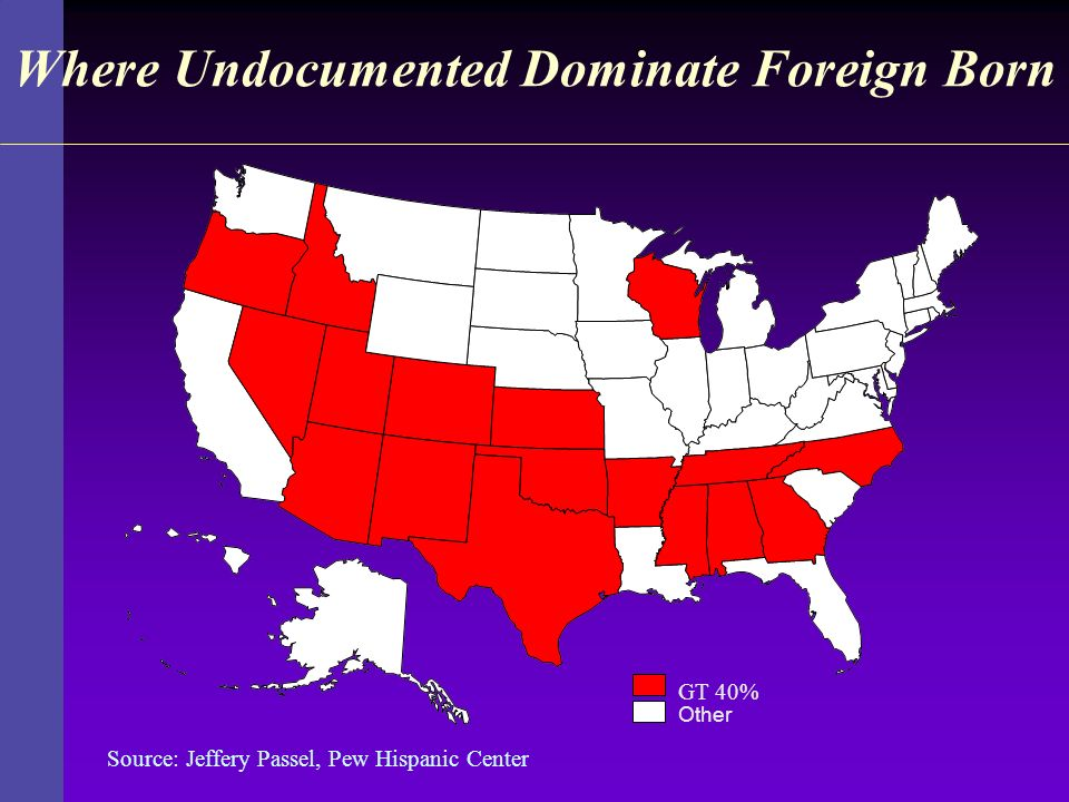Where Undocumented Dominate Foreign Born