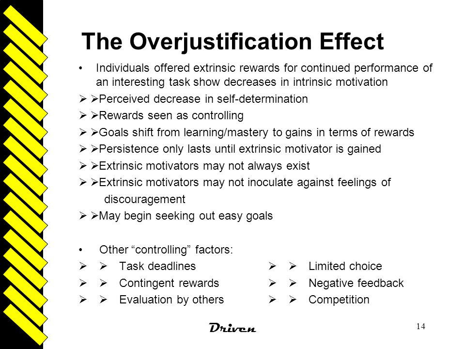 The Overjustification Effect