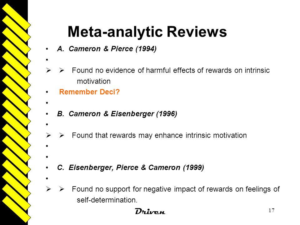 Meta-analytic Reviews