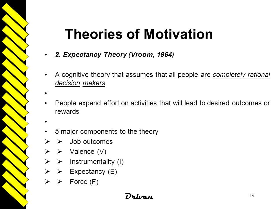 "expectancy theory of motivation management essay Motivation has 3 basic factors according to a recent article written by stephen p robbins entitled organizational behavior and leadership (15th edition, ""motivation concepts""."