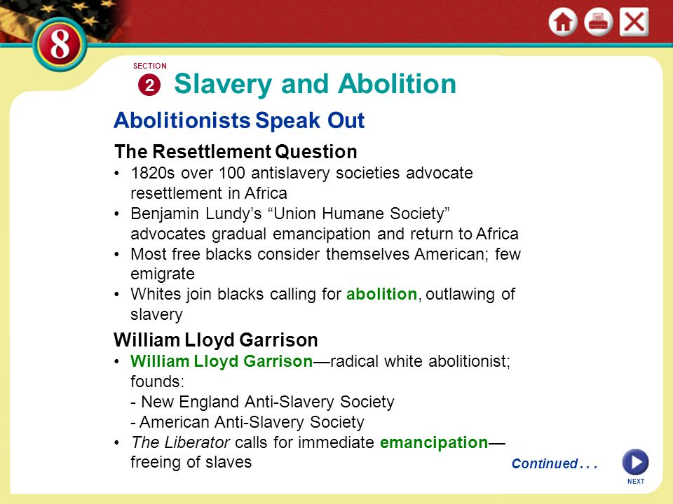 Slavery and Abolition Abolitionists Speak Out