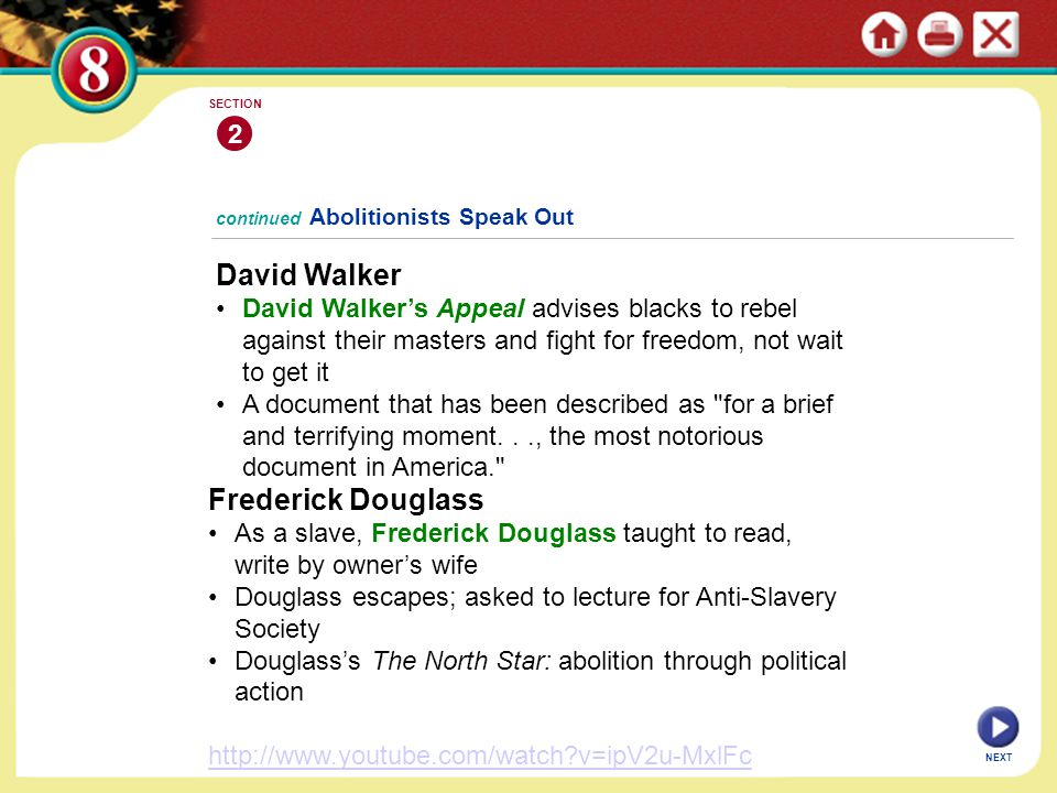 David Walker Frederick Douglass 2