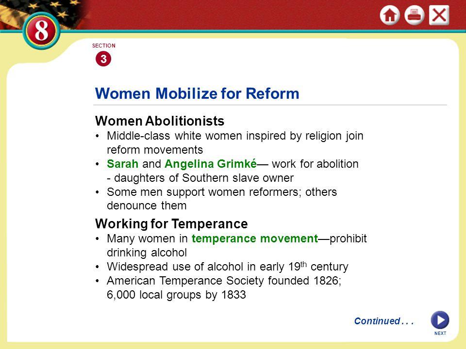 Women Mobilize for Reform