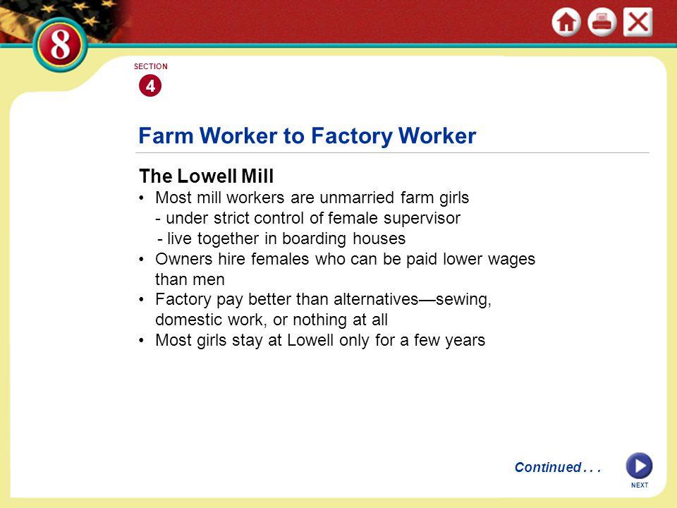 Farm Worker to Factory Worker