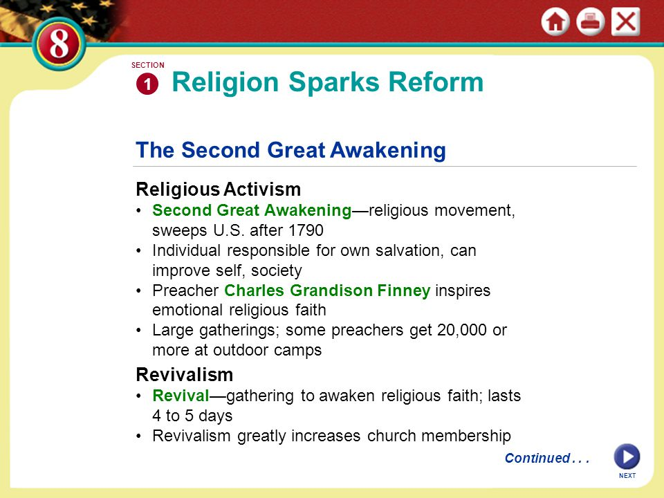 Religion Sparks Reform