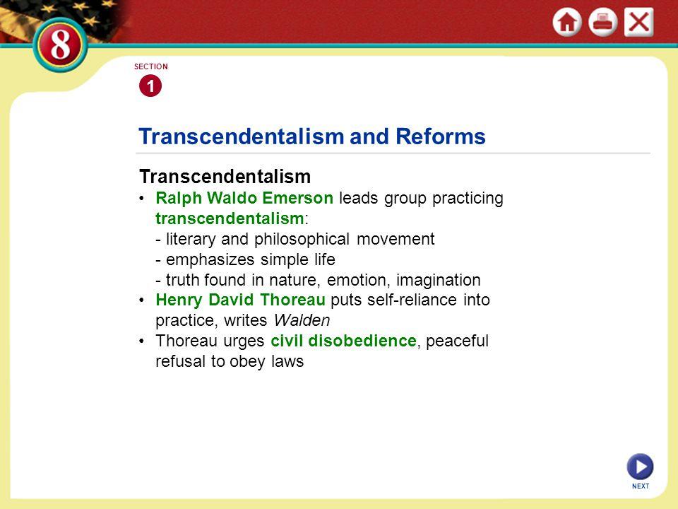 Transcendentalism and Reforms