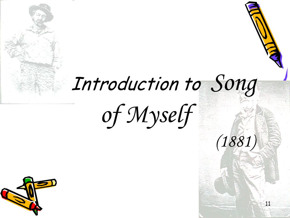 Introduction to Song of Myself (1881)