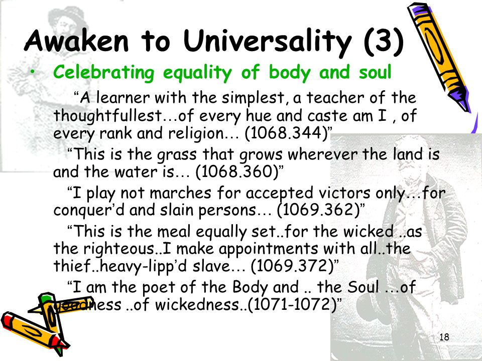 Awaken to Universality (3)