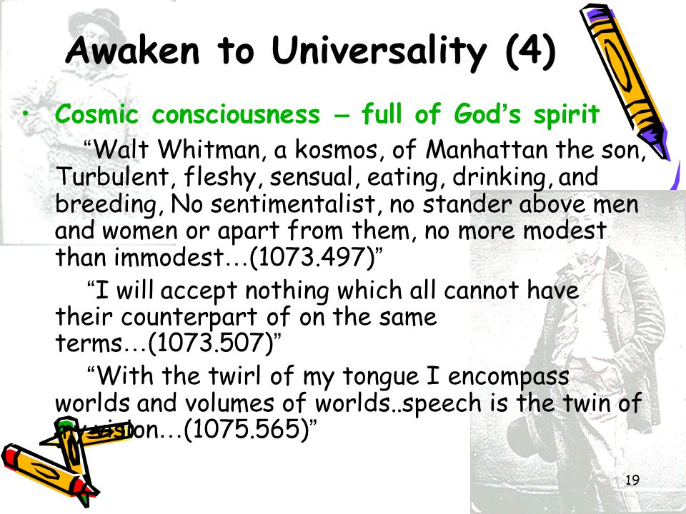 Awaken to Universality (4)