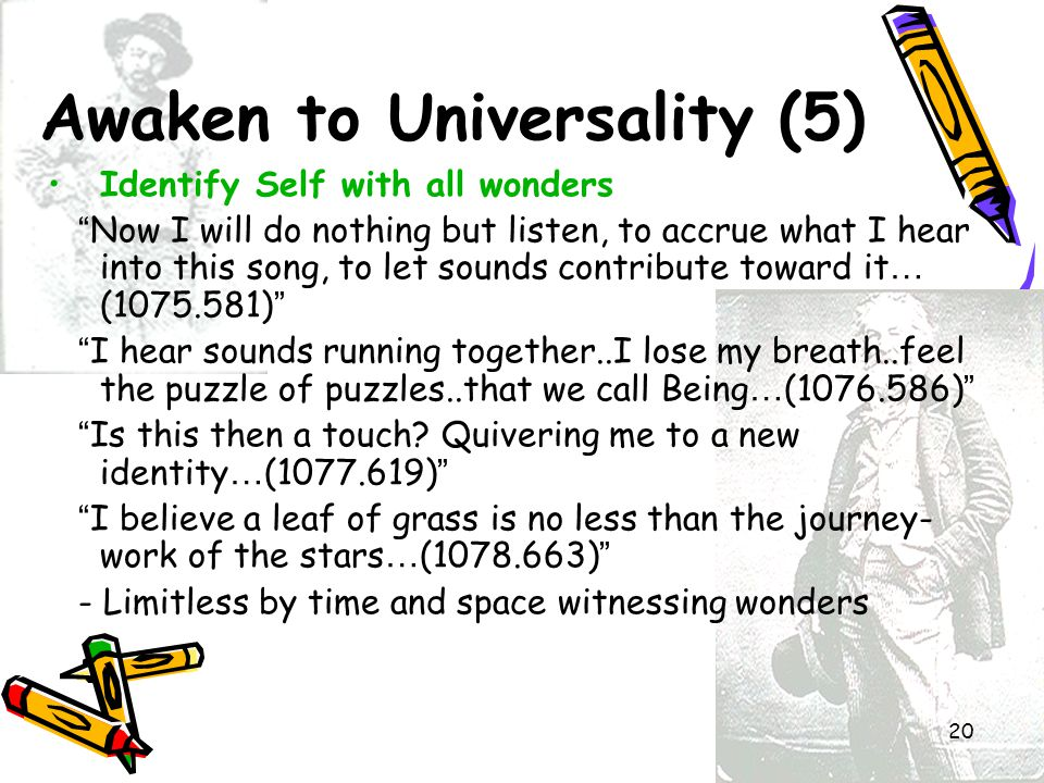 Awaken to Universality (5)