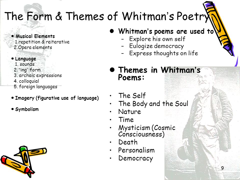 The Form & Themes of Whitman's Poetry
