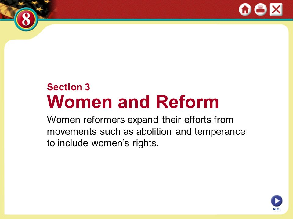 Women and Reform Section 3