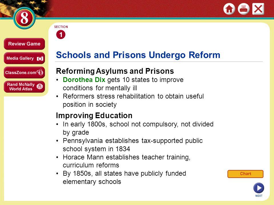 Schools and Prisons Undergo Reform