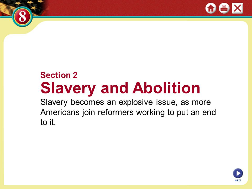 Slavery and Abolition Section 2