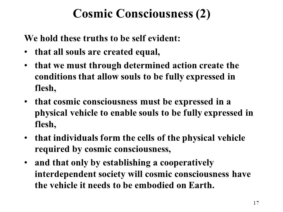 Cosmic Consciousness (2)