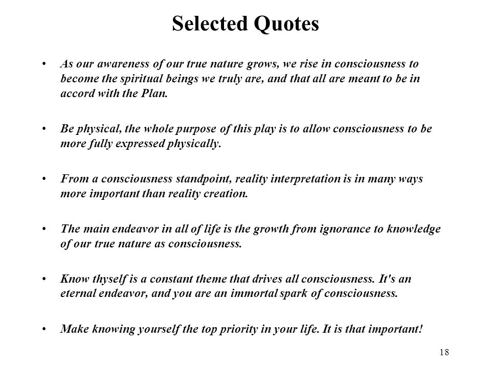 Selected Quotes