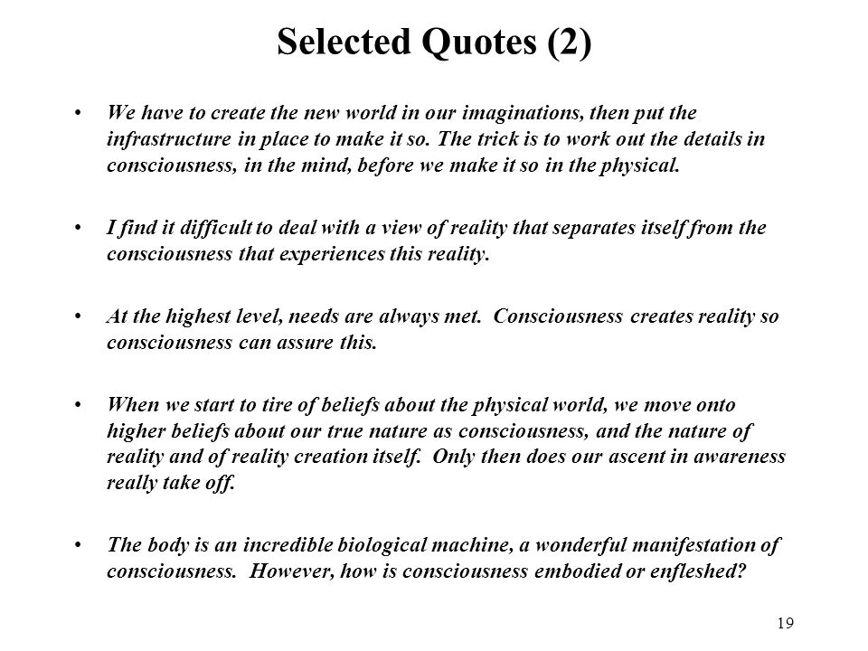 Selected Quotes (2)