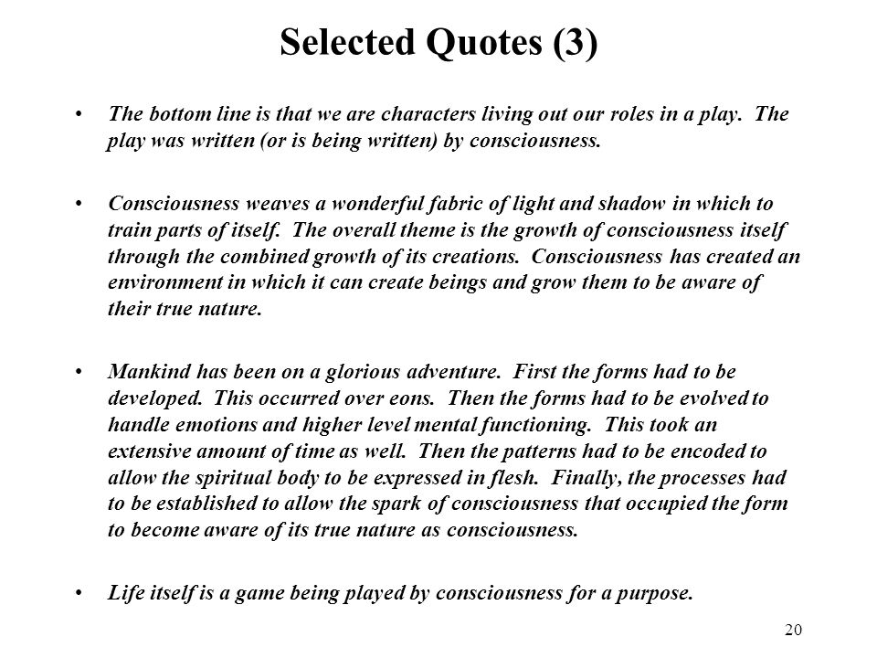 Selected Quotes (3)