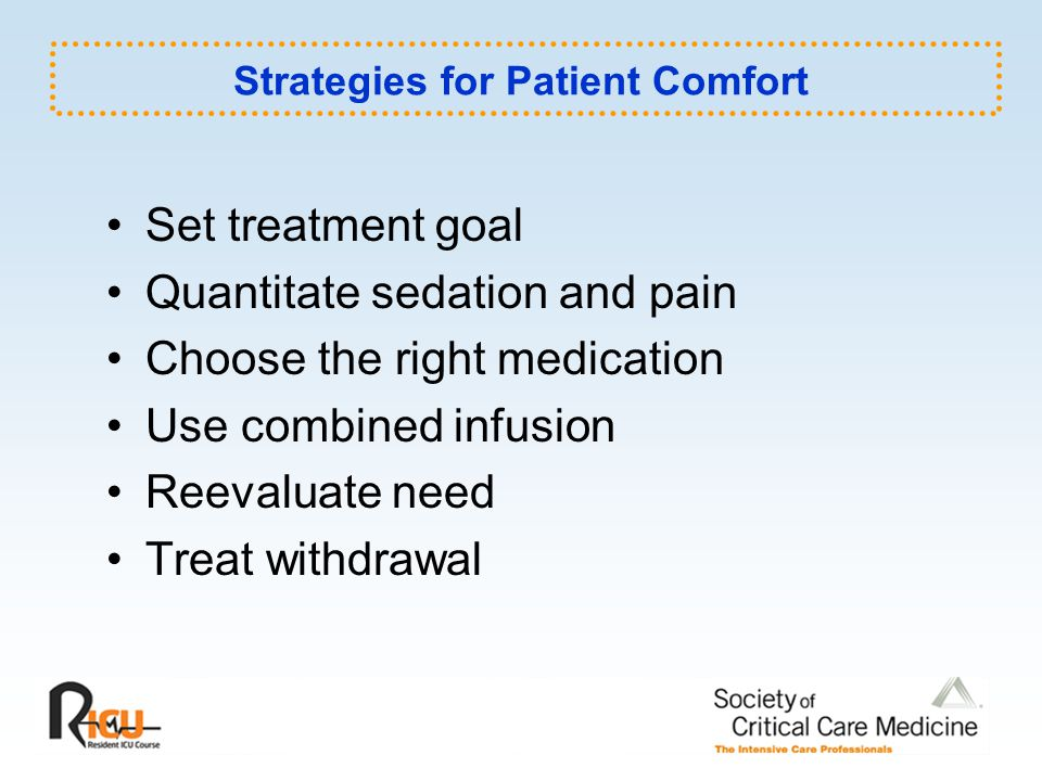 Strategies for Patient Comfort